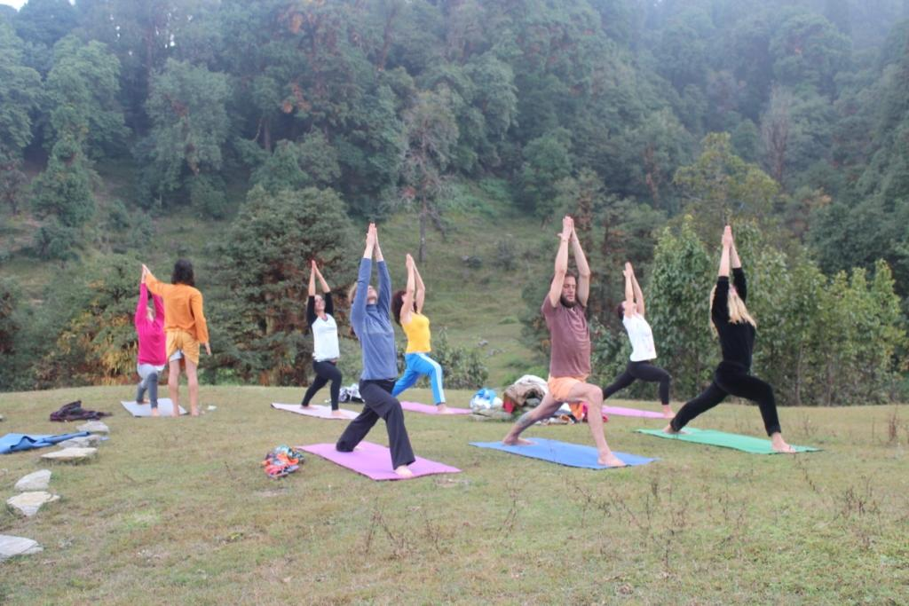 Magpie Camp Chopta is the best place for Yoga and other activities .