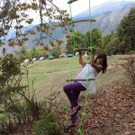 Rope Ladder at Magpie Camp Chopta